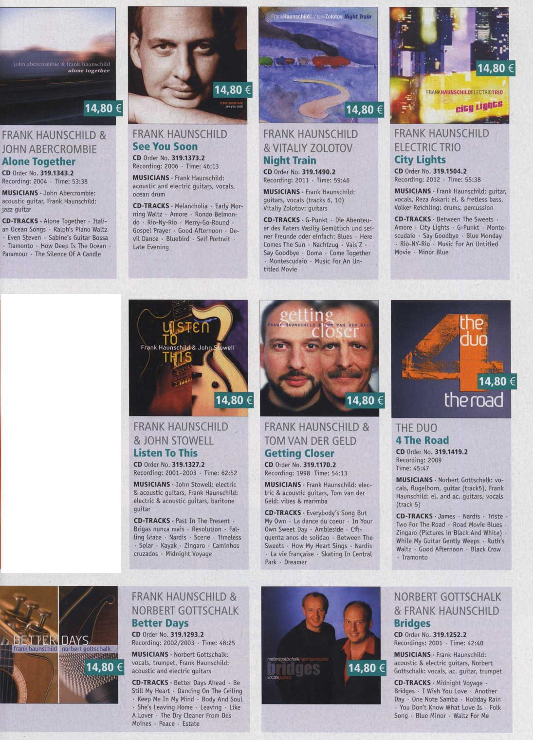 Frank Haunschild Katalog Acoustic Music